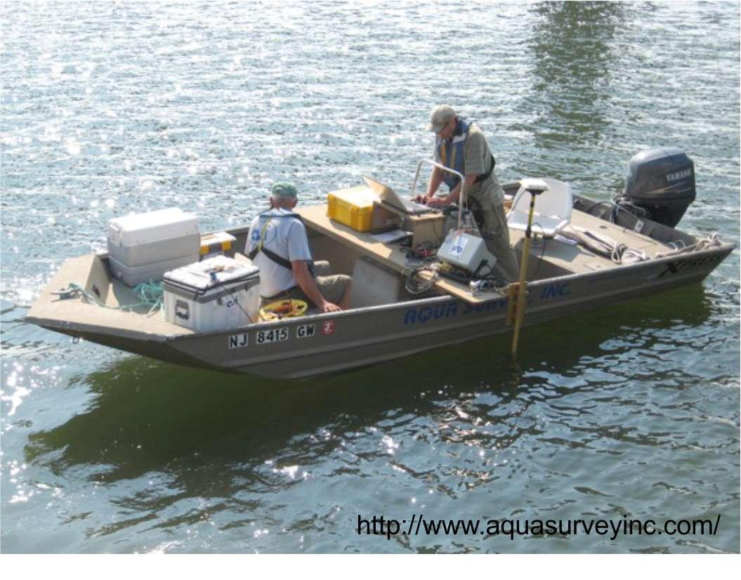 czasowy tryb pracy georadaru na wodzie